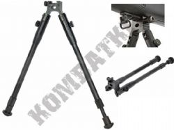 Rifle Bipod Retractable 20mm RIS Weaver Rail Mount Full Metal Black